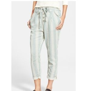 Free People Striped Beach Trouser Pants NWT